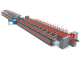 GL-450L CNC steel bar sawing, upsetting, threading and polishing production line